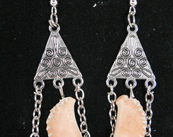 Pierogi Chandelier Earrings Triangle Style