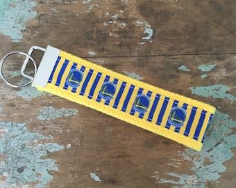 Golden State warriors fob keychain wristlet