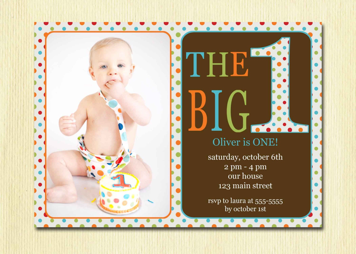 First birthday baby boy invitation diy photo printable zoom stopboris Gallery