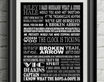 Broken Arrow - John Travolta Christian Slater John Woo Typography Movie Film Poster Art Print Wall Decor Poster Motivational Movie Quote