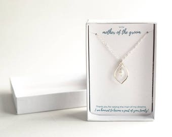 Mother of the Groom Gift - Wedding Gift for Mother of the Groom - Future Mother in Law Gift - Sterling Silver Mother of the Groom Necklace