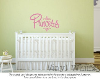 Princess - Vinyl Wall Art - Quote - Vinyl Lettering - Decal - MVDCT066