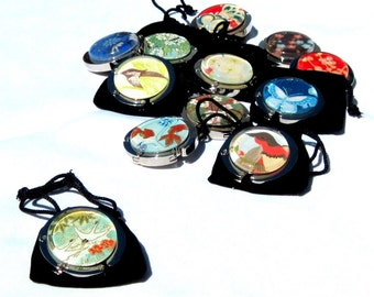 Purse Hooks - Party 6 Pack - Assorted Designs - Japanese Chiyogami Geisha Gem Purse Hangers