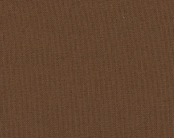 """Brown Solid Fabric - Bella Solids """"Chocolate"""" by Moda - One Yard"""