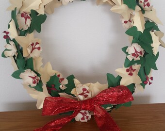 Christmas Holly and Ivy Wreath