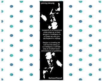 3 lovely handmade bookmarks with a Bertrand Russell quotation