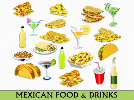 mexican food drinks clip art graphic mexico clipart rh etsy com free mexican food clipart images mexican food clipart images