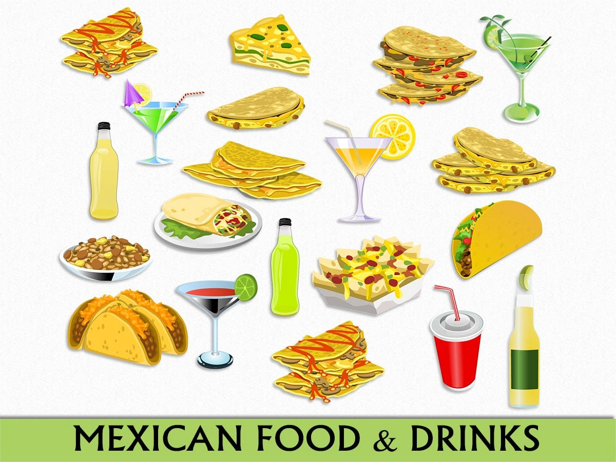 Mexican Food & Drinks Clip Art Graphic Mexico Clipart