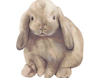 Bunny Rabbit Print - Watercolour Painting