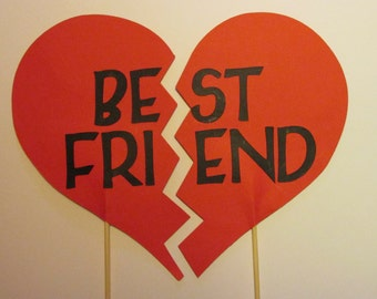 Best Friend photo props, Wedding photo props, photo booth props