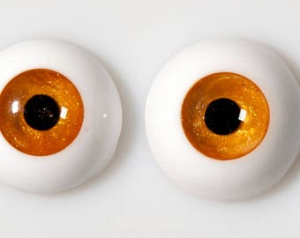 READY to SHIP! 16mm handmade urethane resin BJD red gold metallic fantasy eyes