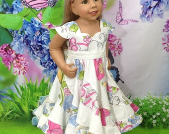 Spring flowers Boutique Pageant Twirl Dress...RTS