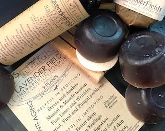 LAVENDER FIELDS Therapeutic Plant Formula Skincare || 9 plants (lavender/frankincense) || 100% Vegan || anti-aging || reduce stress