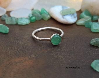 Aventurine Ring. Aventurine jewellery. Green ring. Stacking ring. Natural jewellery. Nature jewellery. Hippie ring. Hippie jewellery. Stone