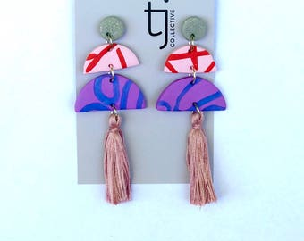 Multi coloured statements with tassel 1