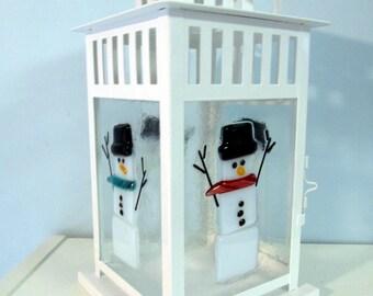 Happy Snowmen Lantern