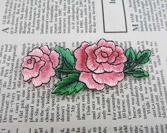 Fabric Flower Embroidered Applique Iron On Patch