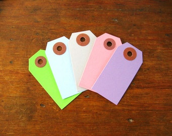 Light Colored Gift Tags, Parcel Tags Assortment (Pick Your Own Colors)