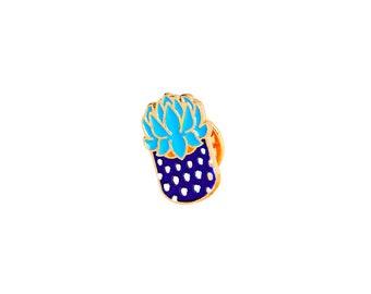 Blue cacti badges