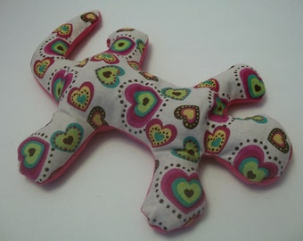 Pain Reliever Hot/ Cold Herbal Therapy Love Lizard with Rainbow Heart Print