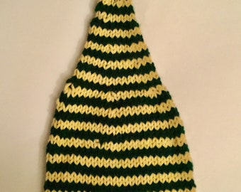 Baby Elf Hat, green and gold