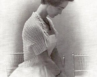Hamaca shrug Vintage Knitted Pattern 005