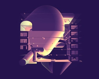 Print of Modern Architecture in Fantasy World