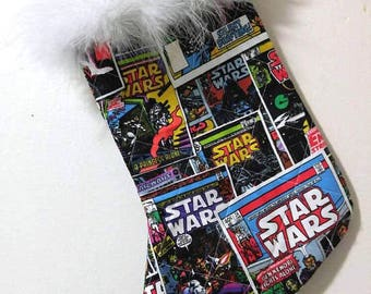 Star Wars Comic Book Covers Christmas Holiday Quilted Stocking