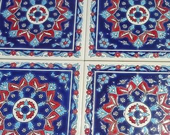Azulejos de cerámica de la pared calcomanía, bohemio baldosas cerámicas, azulejos mediterráneos, arte de cerámica de la pared, tapices de pared de cerámica, azulejo de cerámica de la pared,