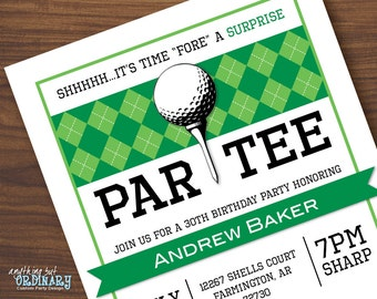 Golf birthday invitations printable golf birthday partee golf surprise party invitations printable golf surprise birthday partee invite golf party invite diy digital file filmwisefo