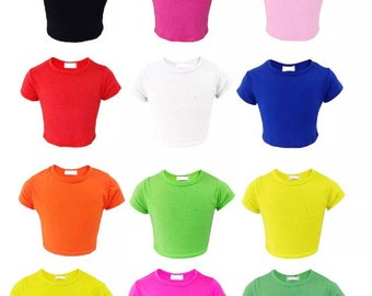 Cropped T-shirt Kids and Youths - Super Hero - Gymnast, Cheerleader, Runner, Tumbler, Dancer, Personalised