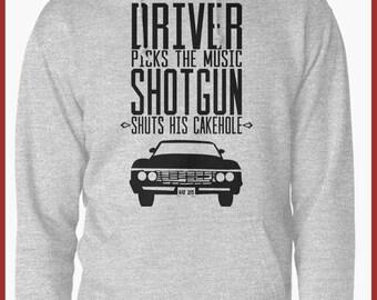 Supernatural driver picks the music  Hoodie
