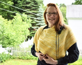 One Of A Kind Yellow Shawl
