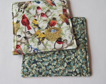 Beautiful Birds Coasters Reversible set of 4 or 6 Bird Coasters Cardinal Coasters Bird Mug Rugs Bird Lovers Gift Bird Table Decor