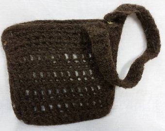 Felted wool wristlet bag