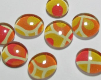 Tiger, tiger, burning bright - Set of 9 glass magnets