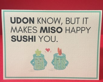 Couple's Greeting Card - Udon Know