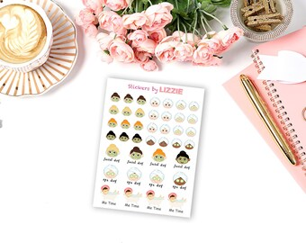 Spa day planner sticker -- perfect for Erin Condren, Kikki-K, plum paper and more