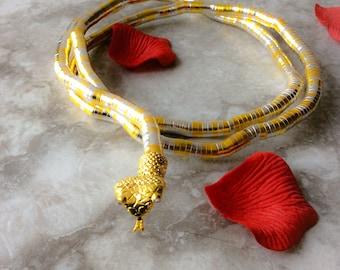 Snake Choker, Snake Bracelette, Snake arm choker, Snake jewelry, snake necklace