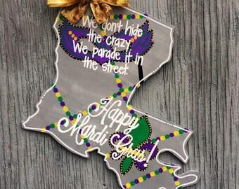 Louisiana Door Hanger - Mardi Gras Door Hanger