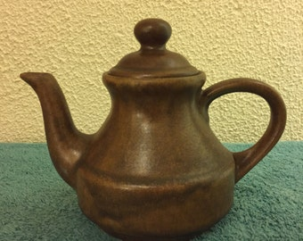 Vintage Earthenware Te/Coffee Pot, Made in France