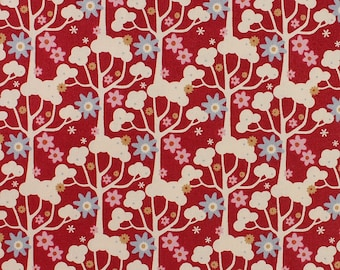 Tilda Limited Edition Candy Bloom, Wildgarden in Red Fat Quarter