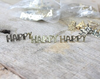 Vintage Gold & Silver Holiday Word Brads