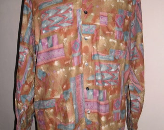 Fantastic Shirt Trussardi ,  Cotton Multi Color , Long Sleeves , Made in Japan , Size 4 , Excellent Condition