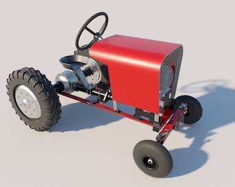 Build your own Garden Tractor (DIY Plans) Fun to build!