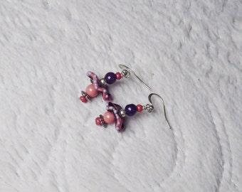 Funky Glass Dangle Earrings!