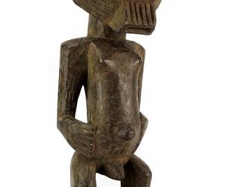 Songye Male Figure with Kifwebe Mask Congo African Art 99036