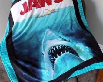 Jaws -  Lightweight Blanket - Kids blanket - Light Blanket - Child's Blanket