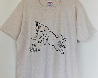お花見Tシャツ A new Tee-shirt designed for spring cherry-blossom viewing, or 花見 in Japanese.