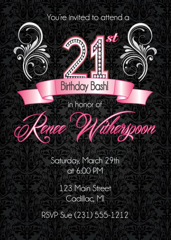 21st birthday invitation 21st birthday party invitation filmwisefo